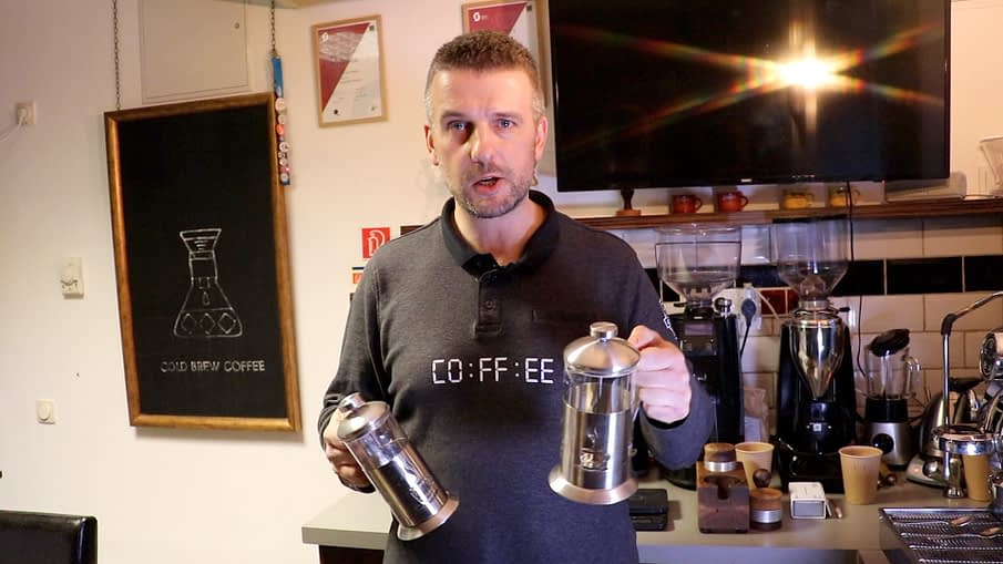 Kávé French Pressen